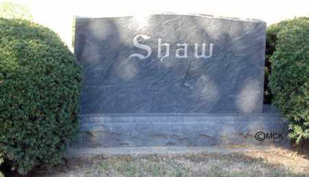 SHAW, HEADSTONE - Minnehaha County, South Dakota   HEADSTONE SHAW - South Dakota Gravestone Photos