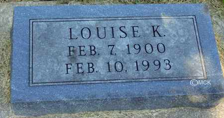 SHAW, LOUISE K. - Minnehaha County, South Dakota   LOUISE K. SHAW - South Dakota Gravestone Photos