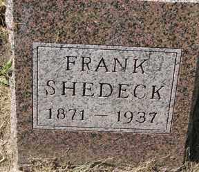 SHEDECK, FRANK - Minnehaha County, South Dakota   FRANK SHEDECK - South Dakota Gravestone Photos