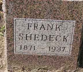 SHEDECK, FRANK - Minnehaha County, South Dakota | FRANK SHEDECK - South Dakota Gravestone Photos