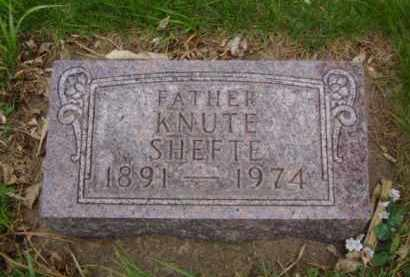 SHEFTE, KNUTE - Minnehaha County, South Dakota | KNUTE SHEFTE - South Dakota Gravestone Photos
