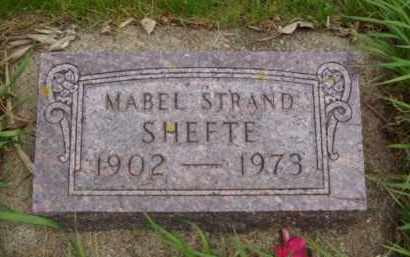 STRAND SHEFTE, MABEL - Minnehaha County, South Dakota | MABEL STRAND SHEFTE - South Dakota Gravestone Photos