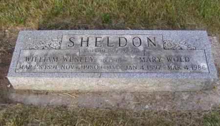 WOLD SHELDON, MARY - Minnehaha County, South Dakota | MARY WOLD SHELDON - South Dakota Gravestone Photos