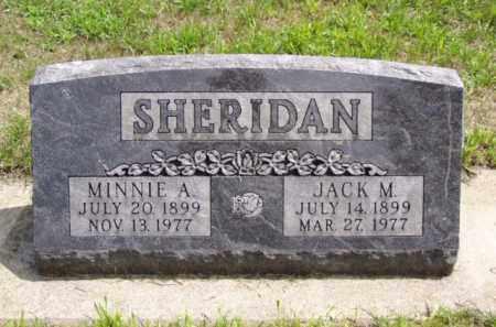 SHERIDAN, JACK M. - Minnehaha County, South Dakota   JACK M. SHERIDAN - South Dakota Gravestone Photos
