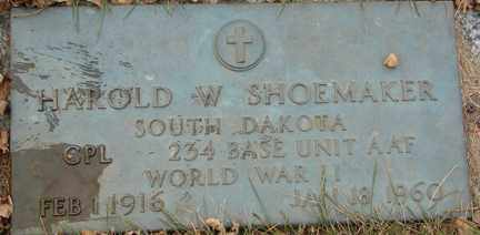 SHOEMAKER, HAROLD W. (WWII) - Minnehaha County, South Dakota | HAROLD W. (WWII) SHOEMAKER - South Dakota Gravestone Photos