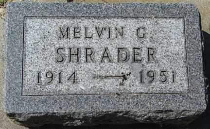 SHRADER, MELVIN G. - Minnehaha County, South Dakota   MELVIN G. SHRADER - South Dakota Gravestone Photos