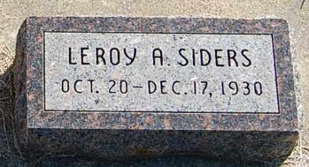 SIDERS, LEROY A. - Minnehaha County, South Dakota | LEROY A. SIDERS - South Dakota Gravestone Photos