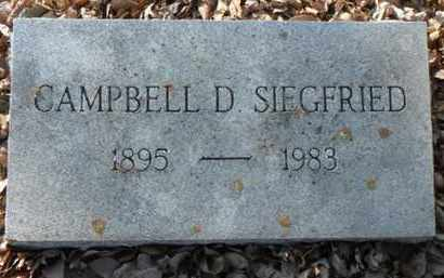 SIEGFRIED, CAMPBELL DANIEL - Minnehaha County, South Dakota | CAMPBELL DANIEL SIEGFRIED - South Dakota Gravestone Photos