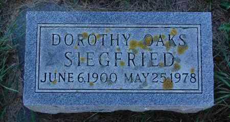 OAKS SIEGFRIED, DOROTHY - Minnehaha County, South Dakota | DOROTHY OAKS SIEGFRIED - South Dakota Gravestone Photos