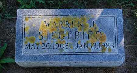 SIEGFRIED, WARREN J. - Minnehaha County, South Dakota | WARREN J. SIEGFRIED - South Dakota Gravestone Photos