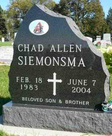SIEMONSMA, CHAD ALLEN - Minnehaha County, South Dakota | CHAD ALLEN SIEMONSMA - South Dakota Gravestone Photos