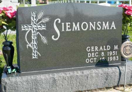SIEMONSMA, GERALD M. - Minnehaha County, South Dakota   GERALD M. SIEMONSMA - South Dakota Gravestone Photos