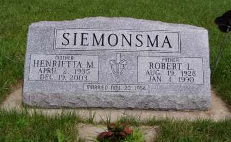 SIEMONSMA, HENRIETTA M. - Minnehaha County, South Dakota | HENRIETTA M. SIEMONSMA - South Dakota Gravestone Photos