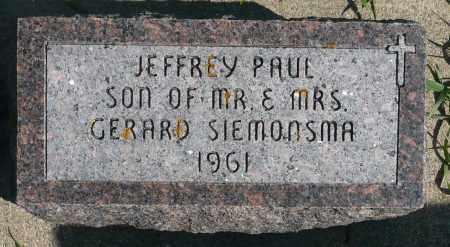 SIEMONSMA, JEFFREY PAUL - Minnehaha County, South Dakota | JEFFREY PAUL SIEMONSMA - South Dakota Gravestone Photos