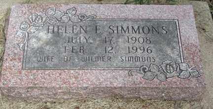 SIMMONS, HELEN E. - Minnehaha County, South Dakota | HELEN E. SIMMONS - South Dakota Gravestone Photos