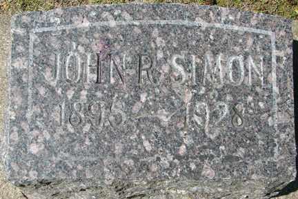 SIMON, JOHN R.. - Minnehaha County, South Dakota | JOHN R.. SIMON - South Dakota Gravestone Photos