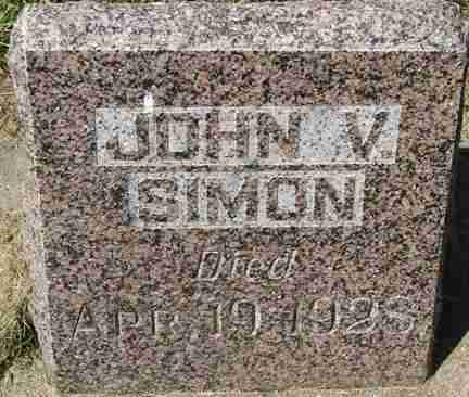 SIMON, JOHN V. - Minnehaha County, South Dakota | JOHN V. SIMON - South Dakota Gravestone Photos