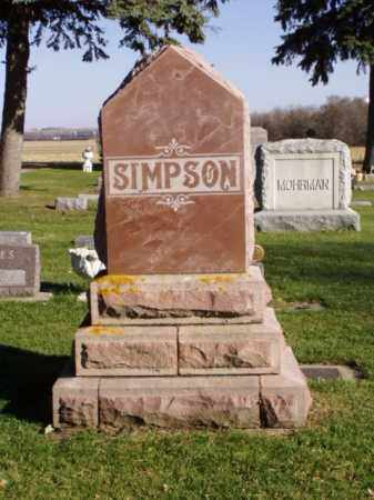 SIMPSON, RITCHIE - Minnehaha County, South Dakota | RITCHIE SIMPSON - South Dakota Gravestone Photos