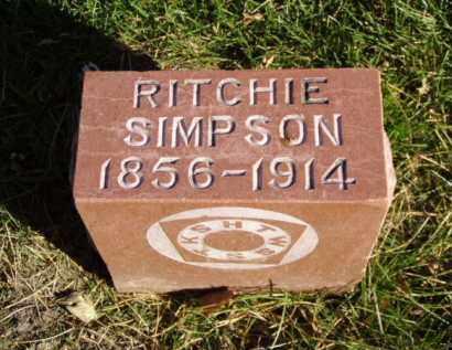 SIMPSON, RITCHIE - Minnehaha County, South Dakota | RITCHIE SIMPSON - South Dakota Gravestone Photos