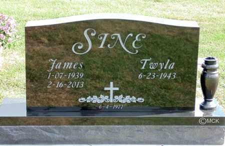 SINE, JAMES - Minnehaha County, South Dakota   JAMES SINE - South Dakota Gravestone Photos