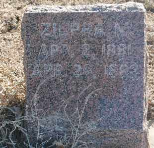 SISSON, ZILPHA M. - Minnehaha County, South Dakota   ZILPHA M. SISSON - South Dakota Gravestone Photos