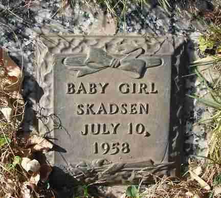 SKADSEN, BABY GIRL - Minnehaha County, South Dakota   BABY GIRL SKADSEN - South Dakota Gravestone Photos