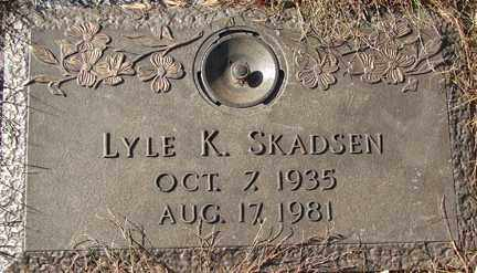 SKADSEN, LYLE K. - Minnehaha County, South Dakota | LYLE K. SKADSEN - South Dakota Gravestone Photos