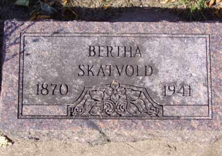 SKATVOLD, BERTHA - Minnehaha County, South Dakota | BERTHA SKATVOLD - South Dakota Gravestone Photos