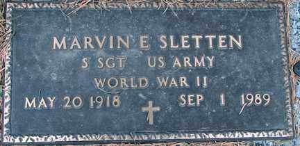 SLETTEN, MARVIN E. (WWII) - Minnehaha County, South Dakota | MARVIN E. (WWII) SLETTEN - South Dakota Gravestone Photos