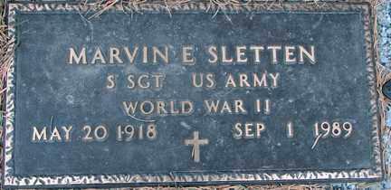 SLETTEN, MARVIN E. (WWII) - Minnehaha County, South Dakota | MARVIN E. (WWII) SLETTEN - South Dakota Gravestone Photos