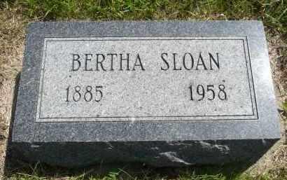 SLOAN, BERTHA - Minnehaha County, South Dakota   BERTHA SLOAN - South Dakota Gravestone Photos
