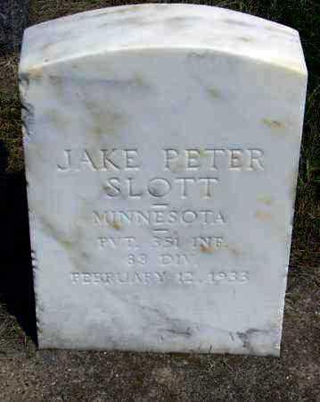 SLOTT, JAKE PETER - Minnehaha County, South Dakota | JAKE PETER SLOTT - South Dakota Gravestone Photos