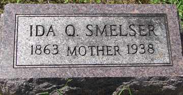 SMELSER, IDA Q. - Minnehaha County, South Dakota   IDA Q. SMELSER - South Dakota Gravestone Photos