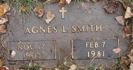 SMITH, AGNES L. - Minnehaha County, South Dakota | AGNES L. SMITH - South Dakota Gravestone Photos