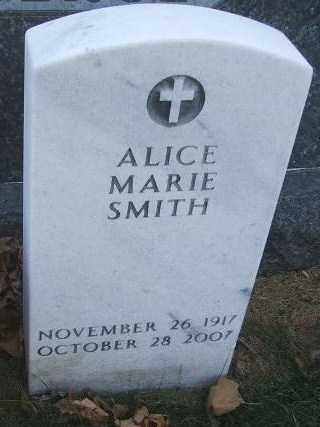 SMITH, ALICE MARIE - Minnehaha County, South Dakota | ALICE MARIE SMITH - South Dakota Gravestone Photos