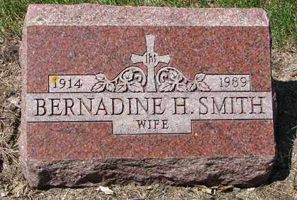 SMITH, BERNADINE H. - Minnehaha County, South Dakota | BERNADINE H. SMITH - South Dakota Gravestone Photos