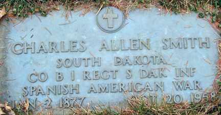 SMITH, CHARLES ALLEN (SPANISH AMERICAN WAR) - Minnehaha County, South Dakota | CHARLES ALLEN (SPANISH AMERICAN WAR) SMITH - South Dakota Gravestone Photos