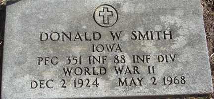 SMITH, DONALD W. - Minnehaha County, South Dakota | DONALD W. SMITH - South Dakota Gravestone Photos