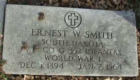 SMITH, ERNEST W. (WWI) - Minnehaha County, South Dakota | ERNEST W. (WWI) SMITH - South Dakota Gravestone Photos