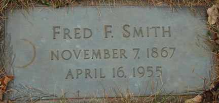 SMITH, FRED F. - Minnehaha County, South Dakota | FRED F. SMITH - South Dakota Gravestone Photos