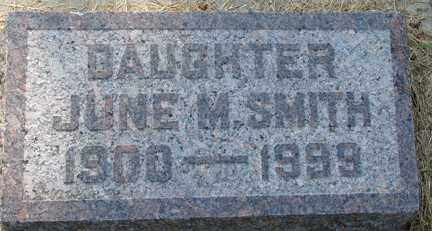 SMITH, JUNE M. - Minnehaha County, South Dakota | JUNE M. SMITH - South Dakota Gravestone Photos