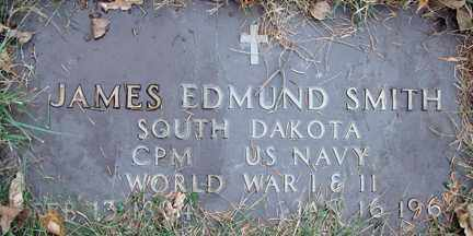 SMITH, JAMES EDMUND (WWI - WWII) - Minnehaha County, South Dakota | JAMES EDMUND (WWI - WWII) SMITH - South Dakota Gravestone Photos