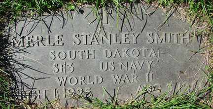 SMITH, MERLE STANLEY - Minnehaha County, South Dakota   MERLE STANLEY SMITH - South Dakota Gravestone Photos