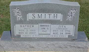 SMITH, ZITA - Minnehaha County, South Dakota | ZITA SMITH - South Dakota Gravestone Photos