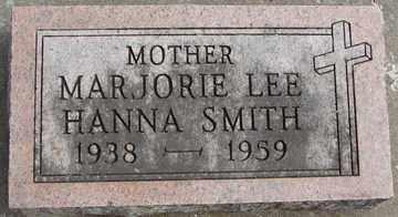 SMITH, MARJORIE LEE HANNA - Minnehaha County, South Dakota | MARJORIE LEE HANNA SMITH - South Dakota Gravestone Photos