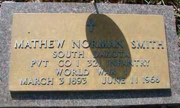SMITH, MATHEW NORMAN (WWI) - Minnehaha County, South Dakota   MATHEW NORMAN (WWI) SMITH - South Dakota Gravestone Photos