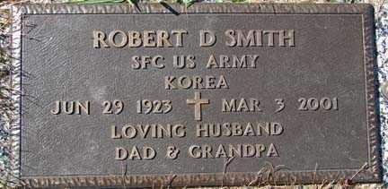 SMITH, ROBERT D. - Minnehaha County, South Dakota   ROBERT D. SMITH - South Dakota Gravestone Photos