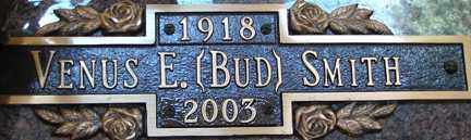 "SMITH, VENUS E. ""BUD"" - Minnehaha County, South Dakota | VENUS E. ""BUD"" SMITH - South Dakota Gravestone Photos"