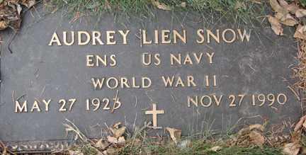 SNOW, AUDREY LIEN (WWII) - Minnehaha County, South Dakota | AUDREY LIEN (WWII) SNOW - South Dakota Gravestone Photos