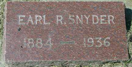 SNYDER, EARL R. - Minnehaha County, South Dakota   EARL R. SNYDER - South Dakota Gravestone Photos
